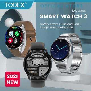 TODEX Đồng Hồ Thông Minh ECG Mới 2021, Đồng Hồ Thông Minh Bluetooth 3 Cuộc Gọi DT3 100 + Mặt Đồng Hồ Cho IOS Dành Cho HUAWEI Android PK DT88 thumbnail