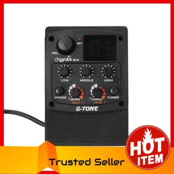 HOT ITEM Cherub G-Tone GT-6 Acoustic Guitar Preamp Piezo Pickup 3-Band EQ Equalizer LCD Tuner (Black) Malaysia