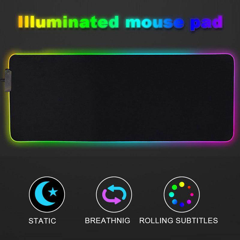 Mouse Mat RGB Mouse Pad Mice Mat Extra Large Usb2.0 PVC Anti-Slip Mouse Pad