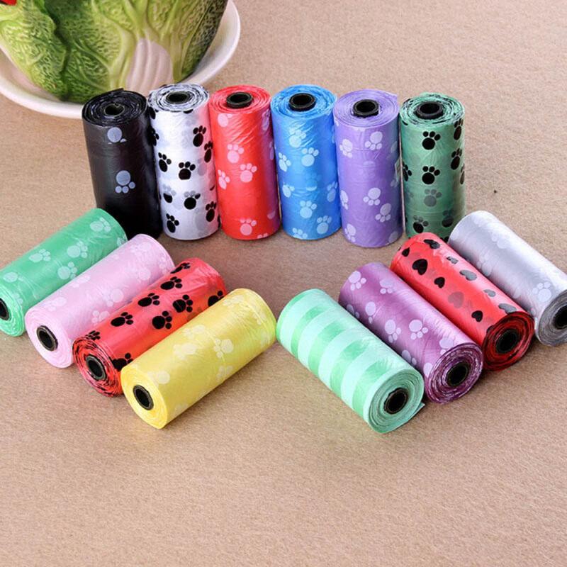 45 Cái Nhựa Cat Dog Carrier Lưu Trữ Pocket Vật Nuôi Cung Cấp Túi Rác Dog Poop Chất Thải Túi Sạch