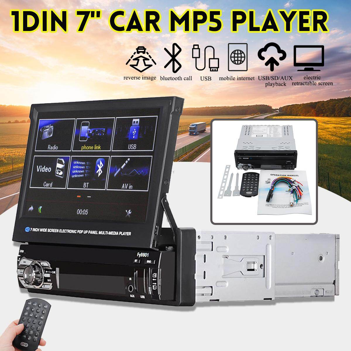 1 Din 7inch Car Stereo Radio Mp5 Player Touch Screen Fm Usb Bluetooth Receiver By Haldis.