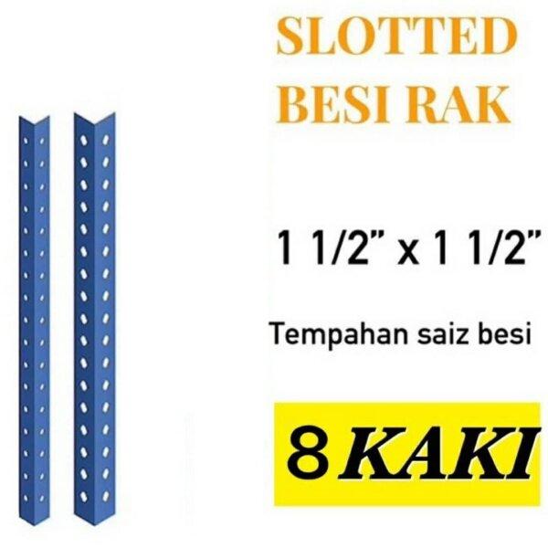 Besi angle Rak lubang 8 kaki/slotted angle bar 8 feet