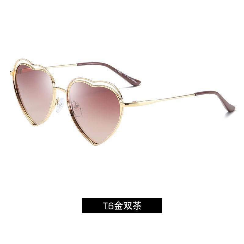 Rp 116.000. Roupai Merek Mode Terkini Hipster Kacamata Peach Jantung Anak Perempuan Kacamata Hitam Terpolarisasi ...