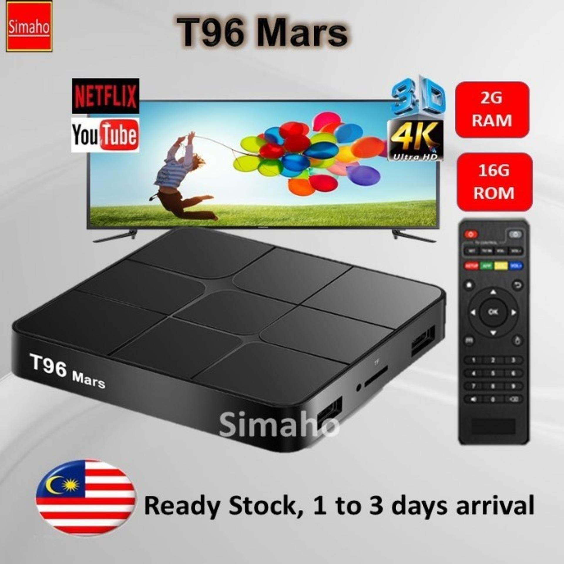 TT96 Mars 4K Tvbox 2G Ram 16G Rom Pre-installed 5000+ famous live channels  IPTV tv box movies dramas games internet karaoke tv box kodi