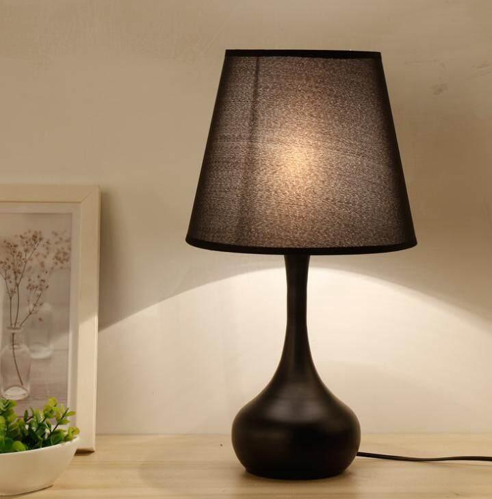Creative European-style Table Lamp Bedroom Bedside Lamp Modern Simple Decorative Lights 43*25cm