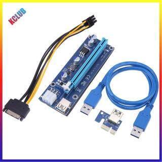 60Cm PCI-E Riser1 X 16X PCI-E USB3.0 009S Cạc Mạng Cáp Cho Máy Đào BTC thumbnail