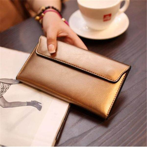 Genuine Real Cow leather envelope Purse korean style Womens Clutch Pouches