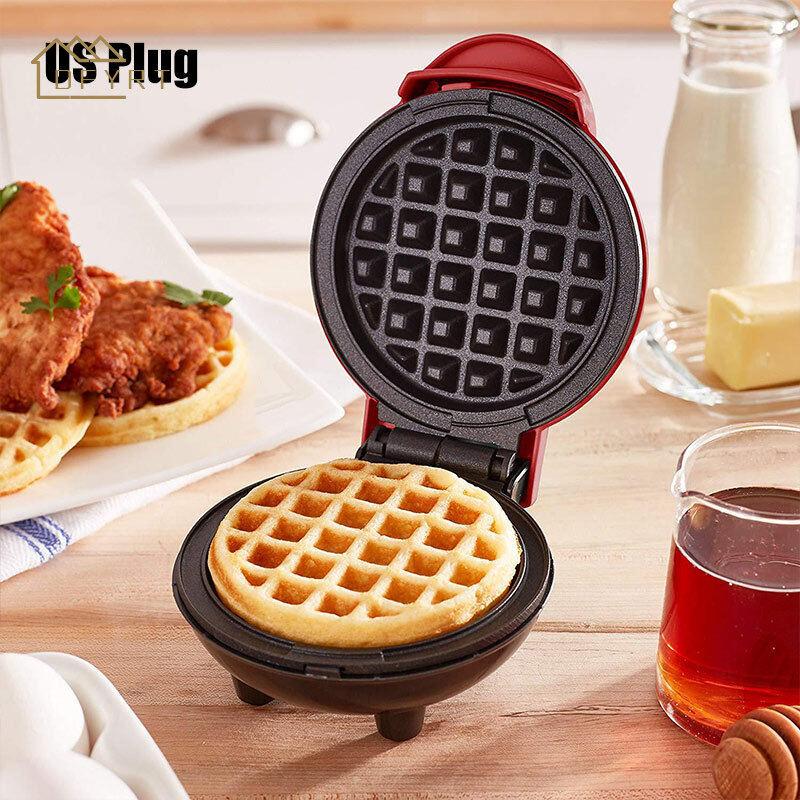 Dfyrt Mini Máy Làm Bánh Waffle Máy Cá Nhân Bánh Quế Băm Browns Ăn Sáng Ăn Nhẹ