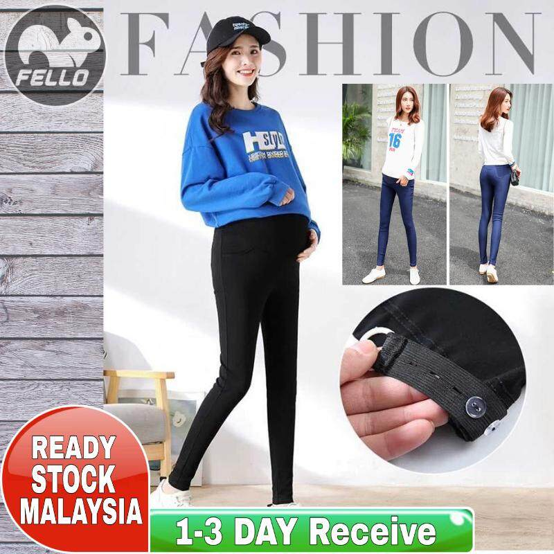 210018945f5a5 (Ready Stock Malaysia) Maternity Nursing Mother Pregnant Women Trousers  Legging Adjustable Belt Office Casual