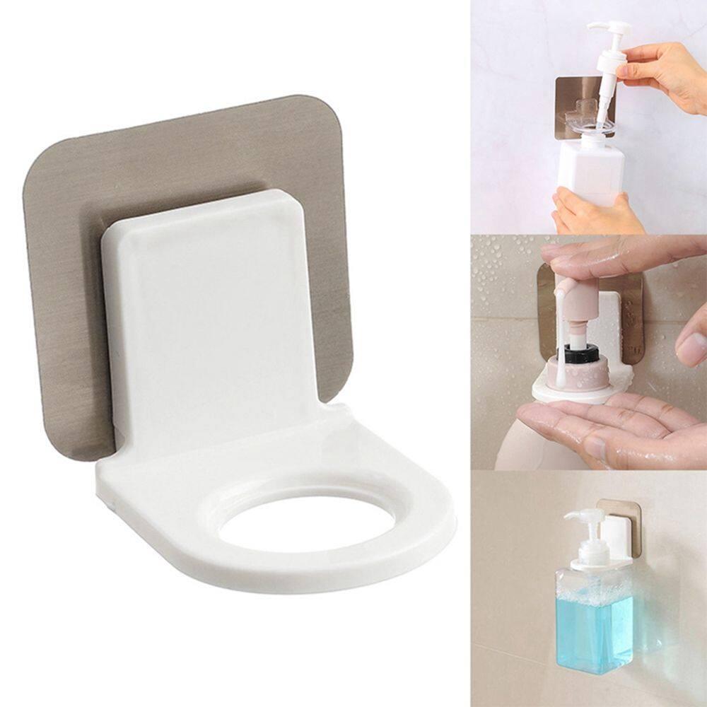 Bathroom Wall Mounted Shower Gel Towel Shampoo Bottle Holder Rack Wall Suction