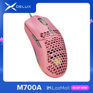Delux M700 A725 Chuột Chơi Game RGB 67G Chuột Công Thái Học Vỏ Tổ Ong Nhẹ Với Cáp Siêu Dệt Cho Game Thủ Máy Tính thumbnail