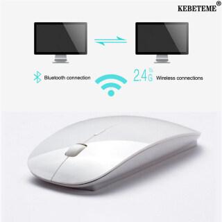 Chuột Không Dây 2 Trong 1 KEBETEME Bluetooth 5.0 2.4Ghz, Chế Độ Kép, 1600 DPI, Siêu Mỏng, Công Thái Học thumbnail