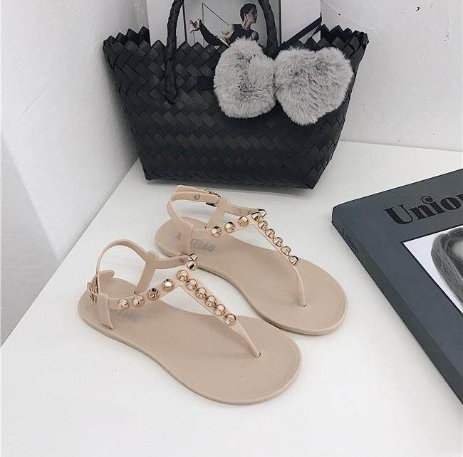 60e6d41b5f66 New Willownail Sandals Women Summer Retro Flat Bottom Leisure Baitao  Students Pinch Foot Fashion Sandals Women