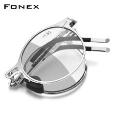 FONEX Photochromic Màu Xanh Ngăn Chặn Ánh Sáng Kính Đọc Sách Gấp Đàn Ông Phụ Nữ Chống Phóng Xạ Có Thể Gập Lại Độc Giả Kính Đeo Mắt Với Đã Được Phân Loại Ống Kính Điện + 2.0 100 150 200 250 300 LH014
