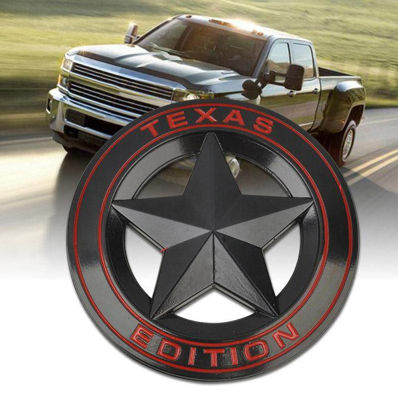 Idealhere Metal Texas Edition Car Emblem Badge Sticker Decal For Ford Chevy Black By Idealhere.