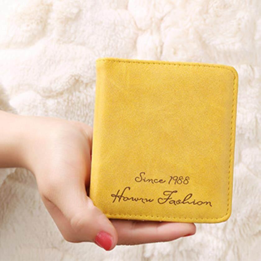 ใหม่ผู้หญิงกระดุมกระเป๋าสตางค์สั้นฉบับภาษาเกาหลี. หนัง Retro กระเป๋าเงินนักเรียนวัสดุ Pu Wallet-C30 By Joyfeel799.