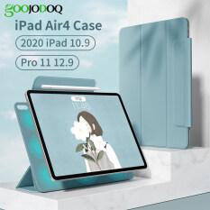 GOOJODOQ Ốp Cho iPad Air 4 Ốp Cho iPad Air 10.9 2020 Mới Dành Cho iPad Pro 11 2020 2018 Ốp Lưng Ốp Nam Châm Hỗ Trợ Sạc Không Dây (Vị Trí Lỗ Máy Ảnh Vuông)