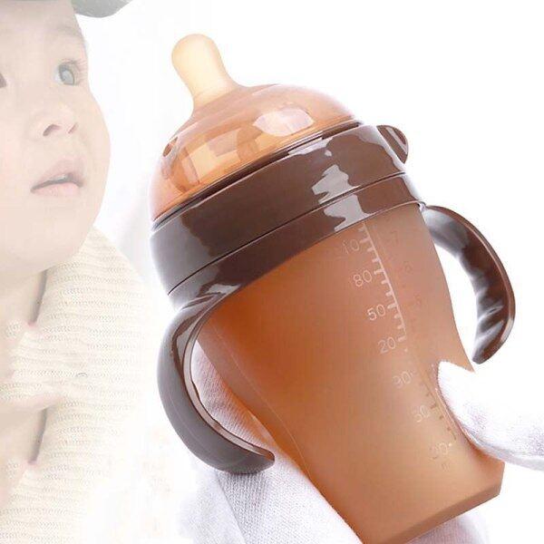 Bình Sữa Silicone Cho Trẻ Em, Em Bé Bú Chai, Bình Sữa Trẻ Em Thương Hiệu Bình Tập Cho Trẻ Sơ Sinh Miệng Mềm Với Rơm