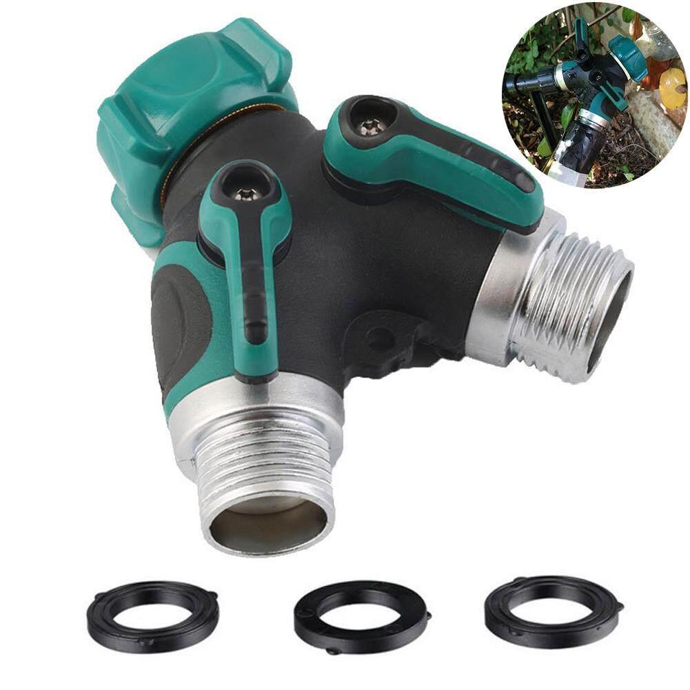 1PC Garden Y Hose Connector Splitter Comfortable Easy Grip Rubberized New