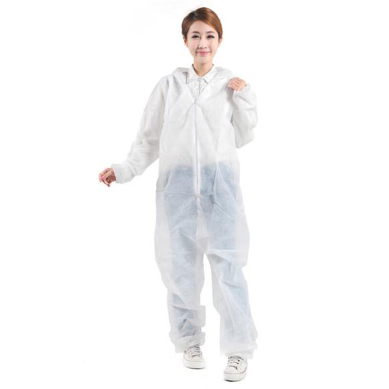 Q&RHazmat Suit Anti-Virus Protection Clothing Safety Coverall Disposable Washable F