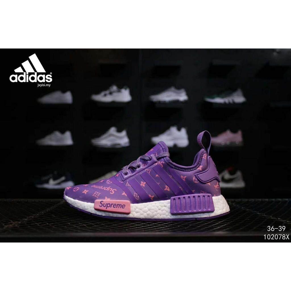 ยี่ห้อนี้ดีไหม  ระนอง Adidas NMD R1 นักเรียนรองเท้าวิ่งรองเท้าผู้หญิงกีฬารองเท้า Wanita Kasut