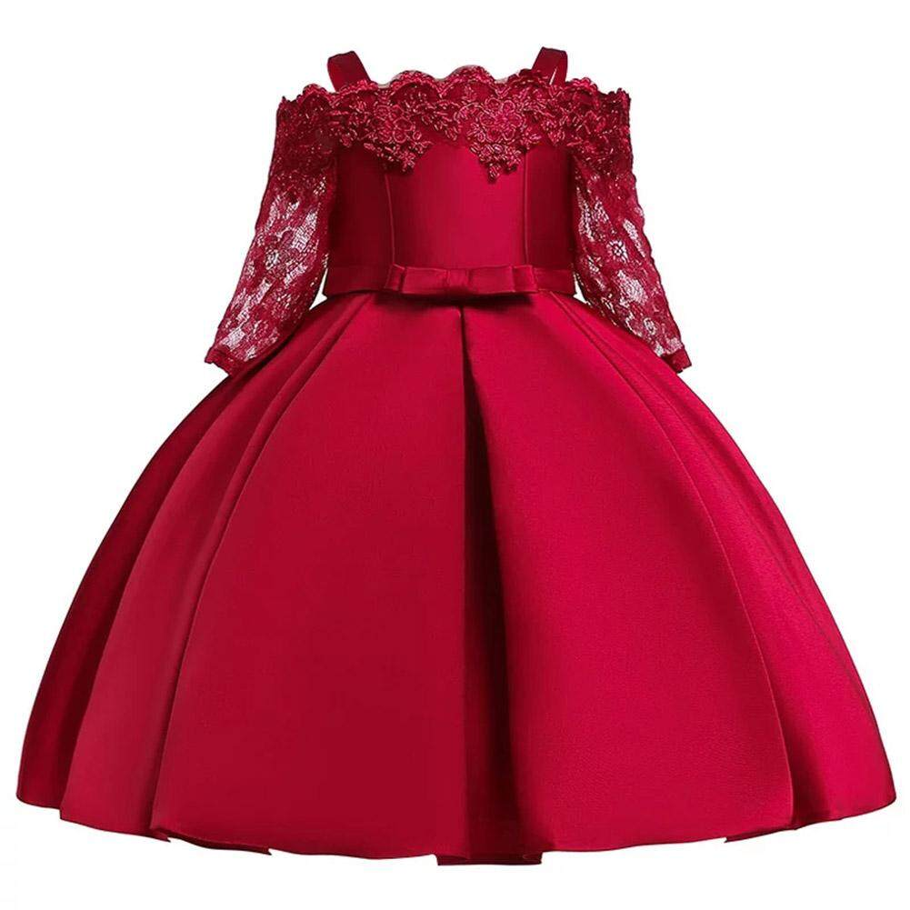 Giá bán Chesy Bé Gái Cô Gái Thanh Lịch Thuyền cổ áo Ren Tutu tutu Đeo đám cưới công chúa Ăn Mặc