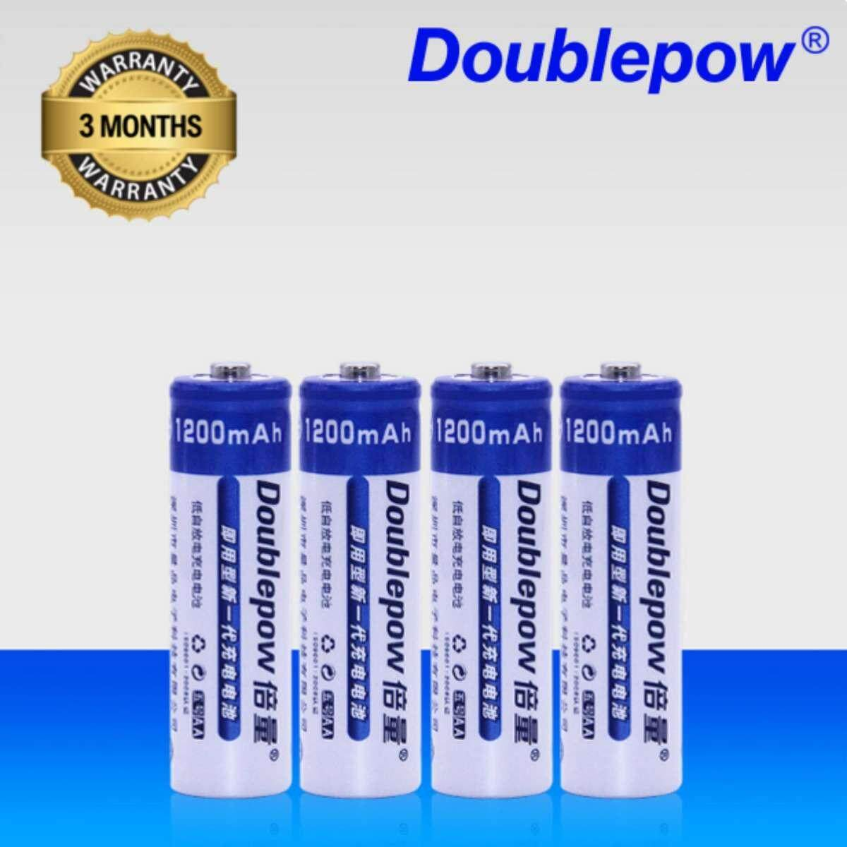 [4 Pcs] Aa 1.2v Rechargeable Battery Original Doublepow / 1200mah Aa Rechargeable Battery [3 Months Warranty] By Fly Automart.