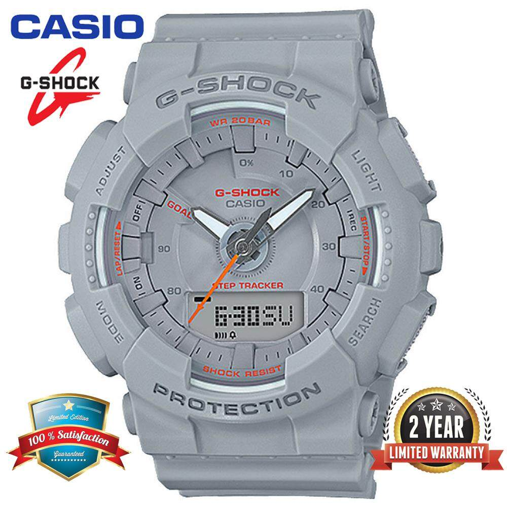 (Ready Stock)Original Casio G Shock_GMA-S130VC-8A Women Sport Digital Watch Duo W/Time 200M Water Resistant Shockproof and Waterproof World Time LED Light Girl Wist Sports Step Reminder Watches with 2 Year Warranty GMA130/GMA-130 Grey Malaysia