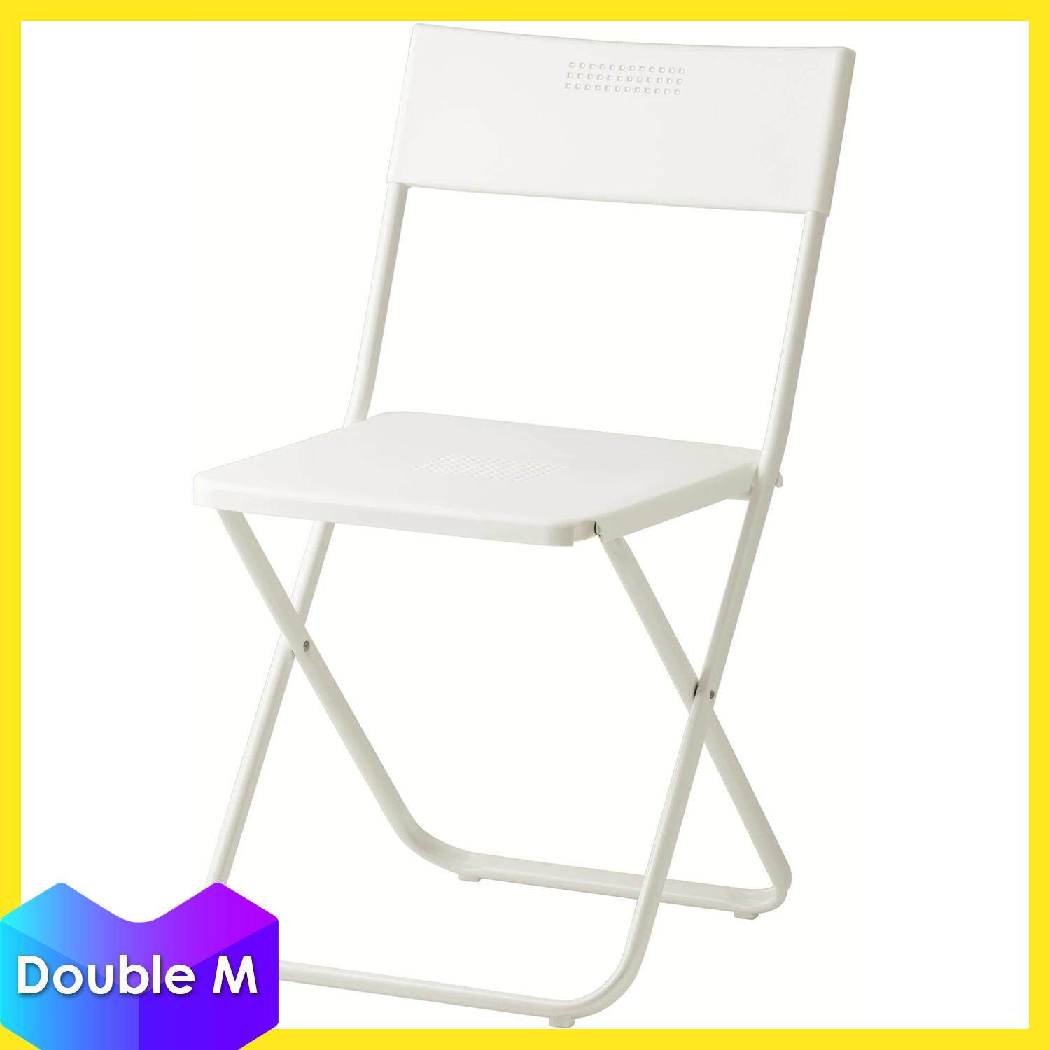 Ikea Fejan Polypropylene Plastic Easy Storage In Outdoor Foldable Chair White Lazada