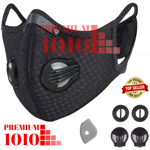 Face Mask KN95 Activated Carbon Unisex Reusable Washable Tie Back Sport Rider [Ready Stock] [Ship from KL]