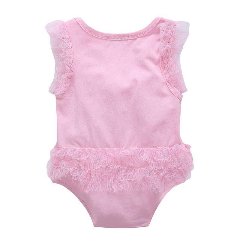 Nơi bán Quần Áo Bé Gái Ren Nữ Tay Ngắn Chữ Baby Rompers Sơ Sinh Đạo Cụ Chụp Ảnh Áo Trẻ Sơ Sinh Áo Liền Quần Cotton 0-12M