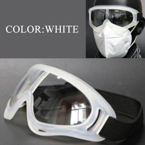2PCS Protective Safety Goggles Glasses No Vented Unisex Anti Fog Droplet Splash for Medical Lab Chemistry Wide-Vision Adjustable Strap