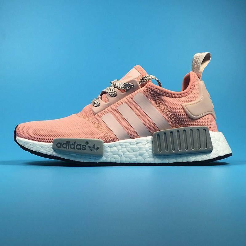 4e8f6a2171ade Original Adidas NMD R1 Running Shoes Men Women Sneakers Pink Grey