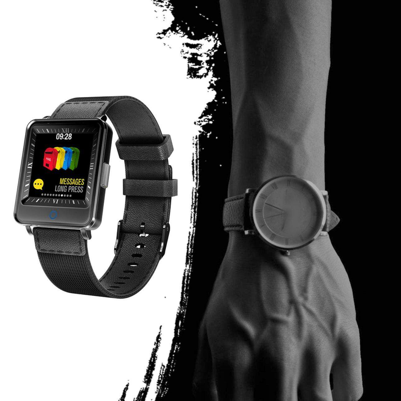 Hot Sales Business Style Designed For Business People V16 Dual-screen Smart Bracelet