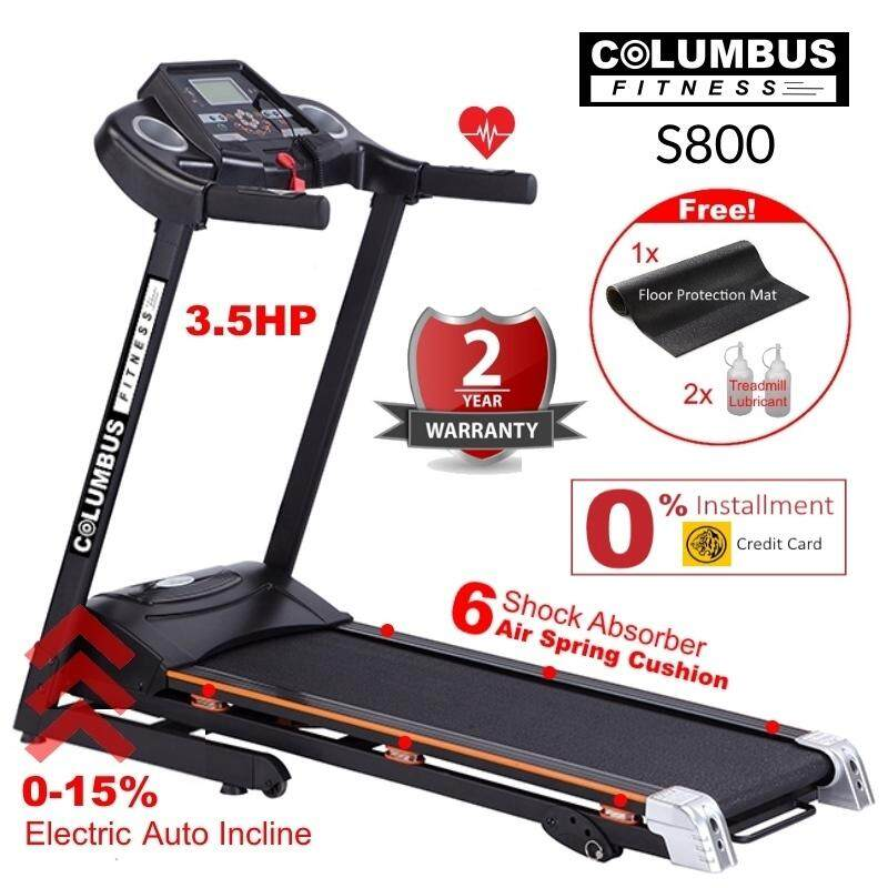 3.5hp Columbus Fitness S800 Professional Treadmill 15 Levels Electric Auto Incline By Ecobee.