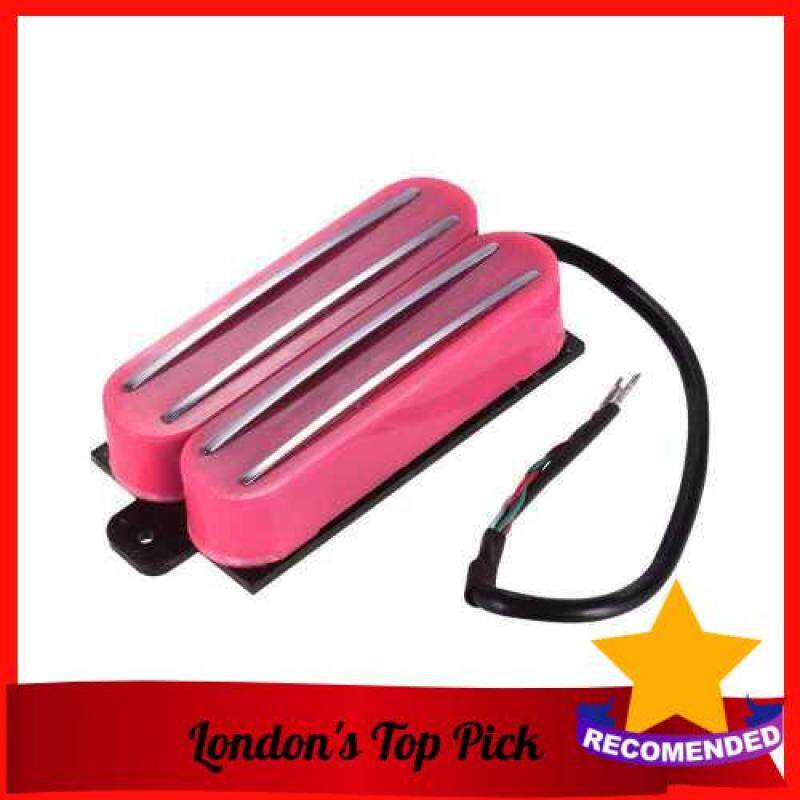 [ London ] Double Twin Hot Rail Humbucker Pickup with 4 Wires for ST LP Electric Guitar Replacement Parts (Hot Pink) Malaysia
