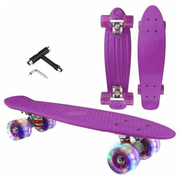 Mua Ván Trượt Mini Retro LED Bánh Xe Phát Sáng Skateboard Với Tích Hợp Skateboard T-tool