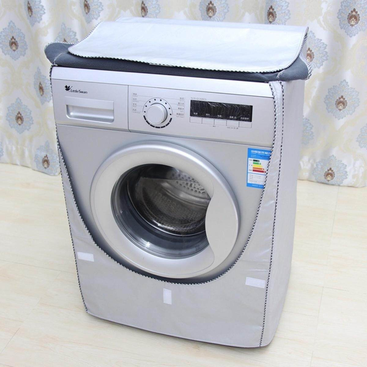 SZ New Painted Silver Oxford Cloth Automatic Drum Washing Machine Cover  Waterproof Sunscreen Sets Washer & Dryer Parts & Accessories SIZE XL