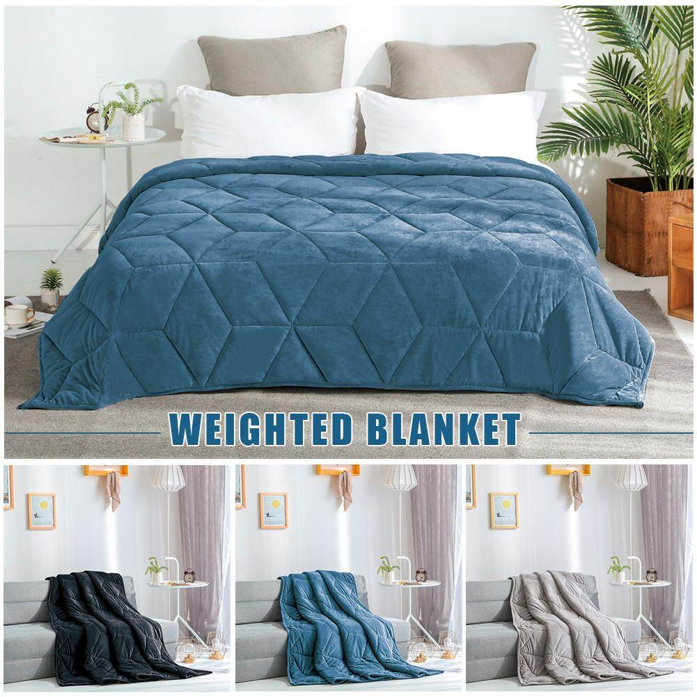 Weighted Blanket 100% Cotton Soft Comfortable Glass Beads for Children Adult Anxiety Autism Overpressure Group 7/15lb