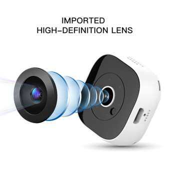 Habuy A9 กล้อง IP การมองเห็นได้ในเวลากลางคืน WiFi 1080 จุดไร้สาย Full HD กล้องจิ๋ว-