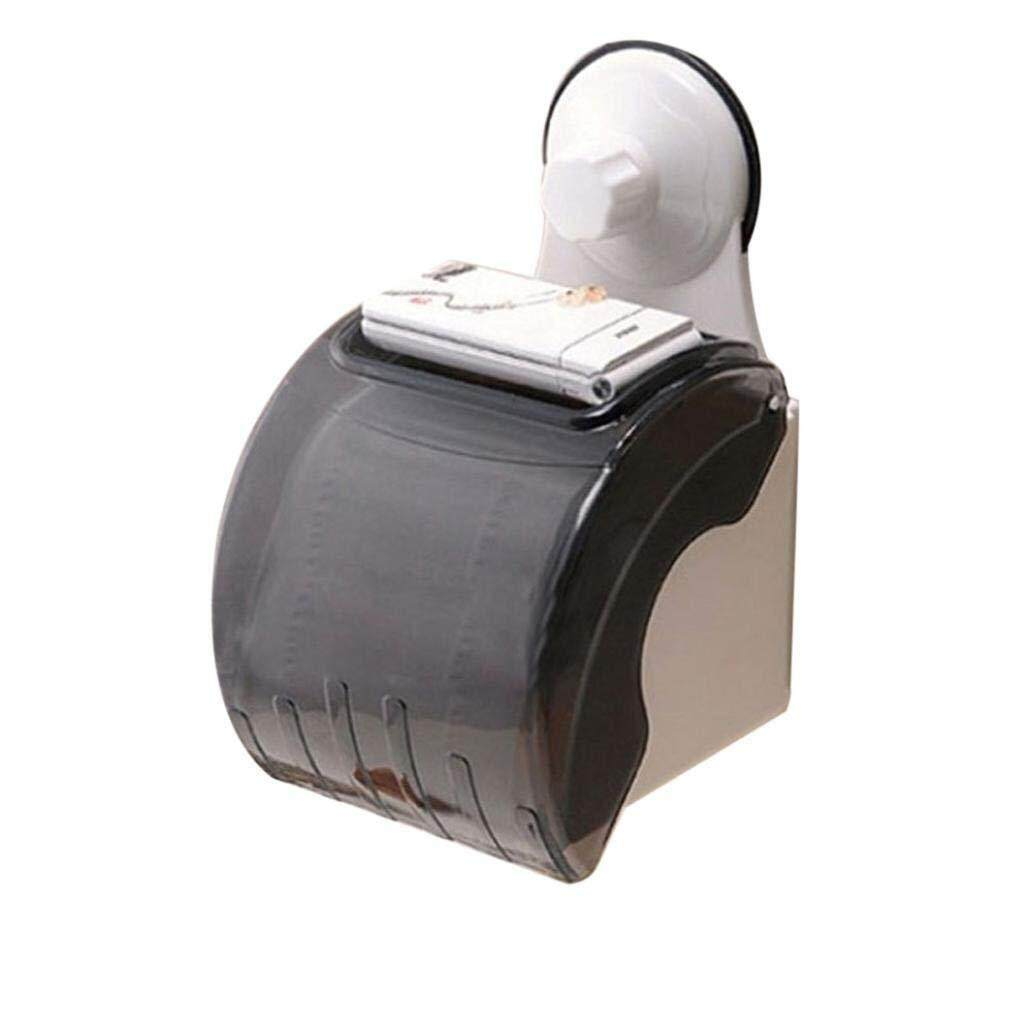 Waterproof Bathroom Toilet Wall Sucker Roll Holder Tissue Box Paper Stand Wall mounted Paper Towel Holder-in Paper Holders from Home Improvement on