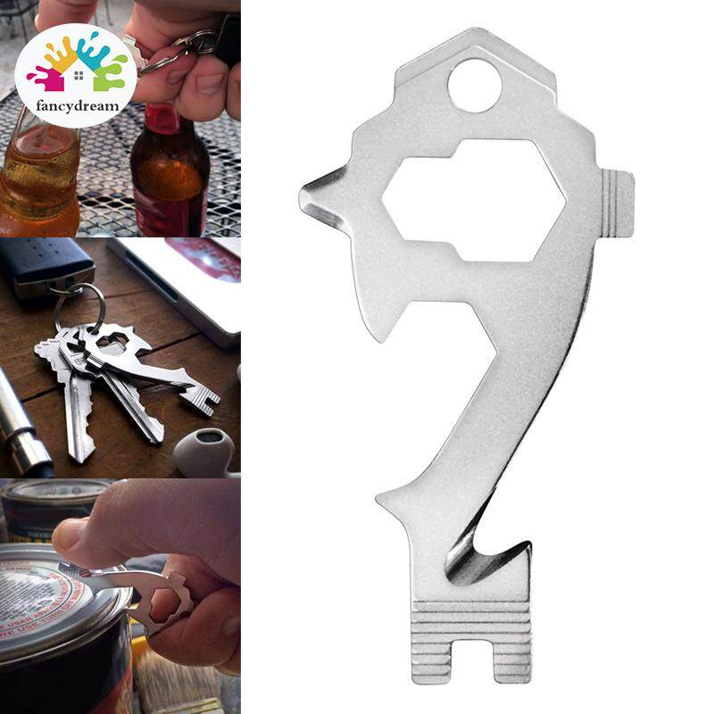 fancydream 20 in 1 Key Size Keychain Multifunction Tool Wrenches Screwdrivers Bottle Opener