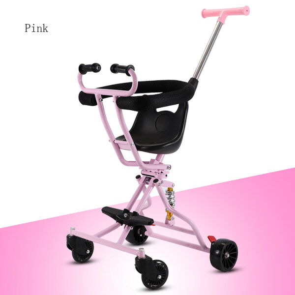 JinGle Baby Foldable Trolley Sliding Baby Artifact Lightweight Walking Baby Take Baby Out Four Wheel Baby Stroller Singapore