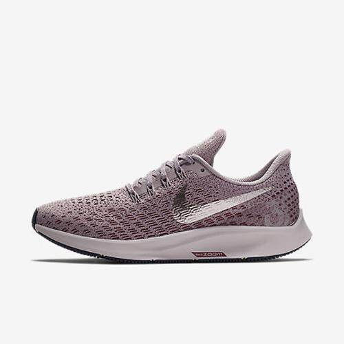 2d970fd93e51 nike Air Zoom Structure 35 Women s Running Shoes Purple Breathable Non-slip  Lightweight Sweat-
