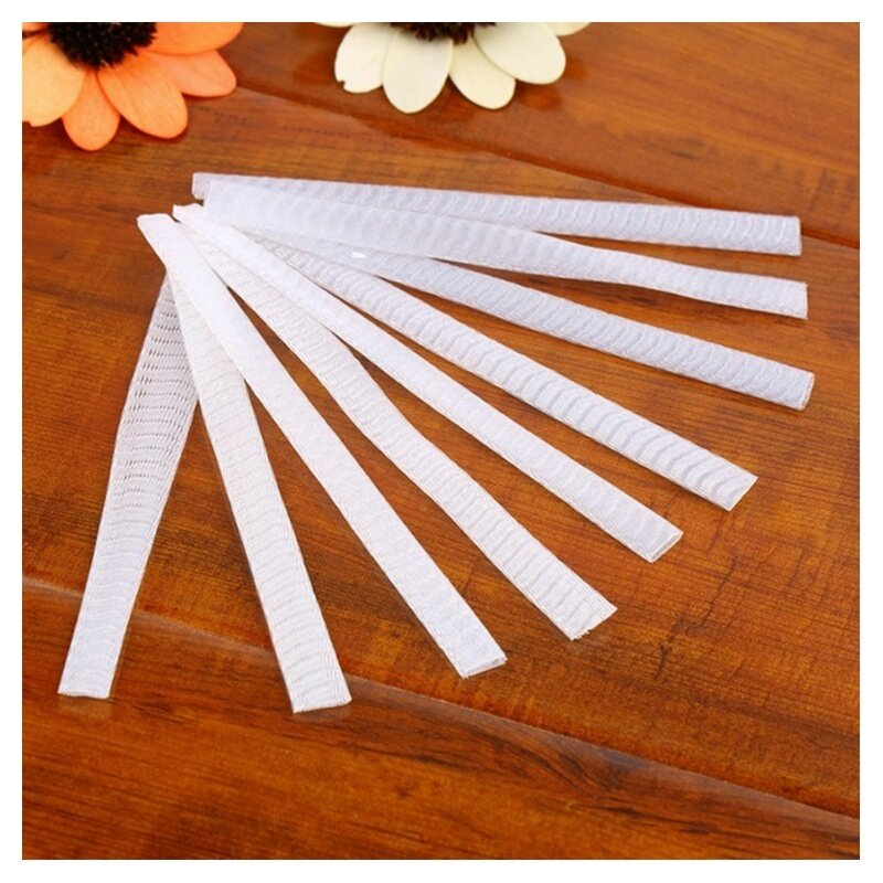 100 pcs Make Up Brush Pen Netting Cover Mesh Sheath Protectors Guards Protective cover Sheath Net (White) tốt nhất