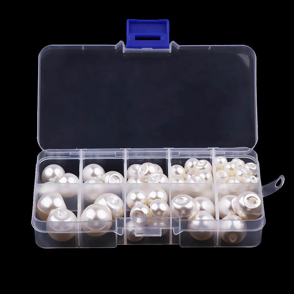 79Pcs //Box White Pearl Buttons Sewing Crafts 8mm 10mm 12mm 14mm 16mm 18mm