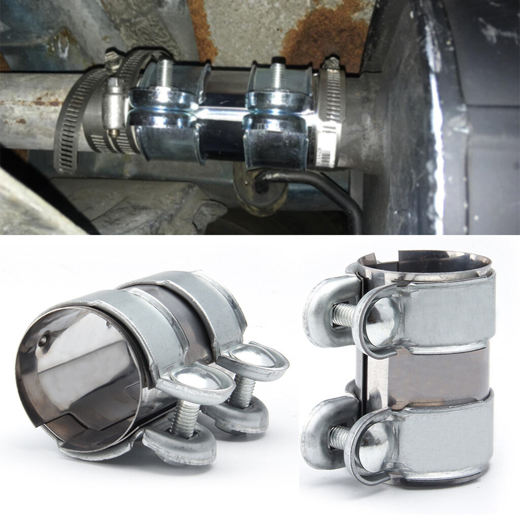 FLAMEER Exhaust Clamp Clip Stainless Steel Muffler Silencer Clamps 32-35mm 36-39mm
