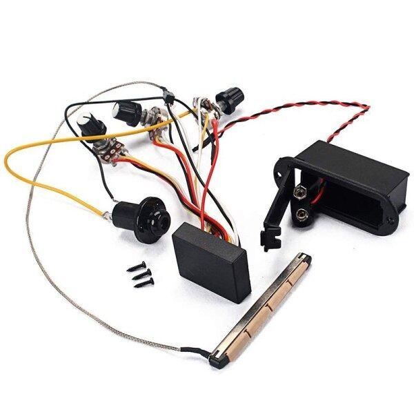Guitar Pickup Preamp Bộ Khuếch Đại Hoạt Động Điều Khiển Âm Bổng Và Âm Lượng Cho Đàn Ukulele Điện Bass Acoustic