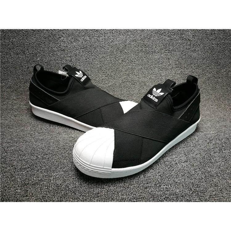 291e79e5ab2 original adidas superstar slip on black out skateboard shoe for men women 36 -44