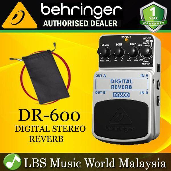 Behringer DR-600 Digital Stereo Reverb Effects Pedal (DR600 DR 600) Malaysia